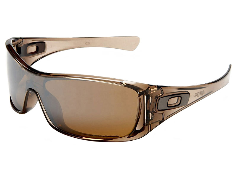 a688fa7f43 Details about Oakley Antix Polarized Sunglasses 12-960 Brown Smoke Tungsten  Iridium