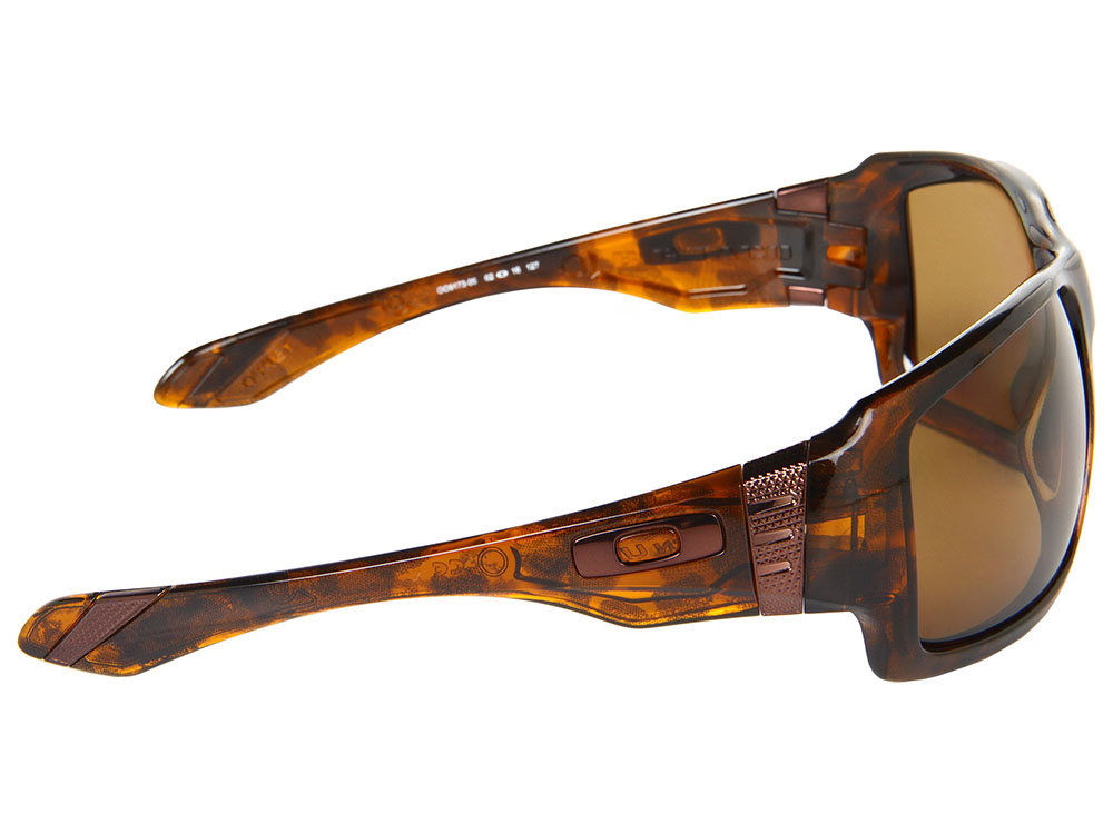 3bbba54ee52 Oakley Big Taco Polarized Sunglasses OO9173-05 Brown Tortoise Bronze ...