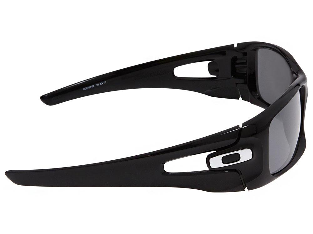d4145100d7829 Oakley Crankcase Polarized Sunglasses. Polished Black Frame   Black Iridium  Polarized Lens
