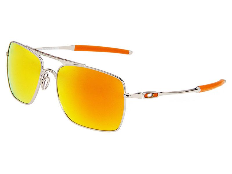 813e3bec8ca Oakley Deviation Sunglasses OO4061-03 Polished Chrome Fire Iridium ...
