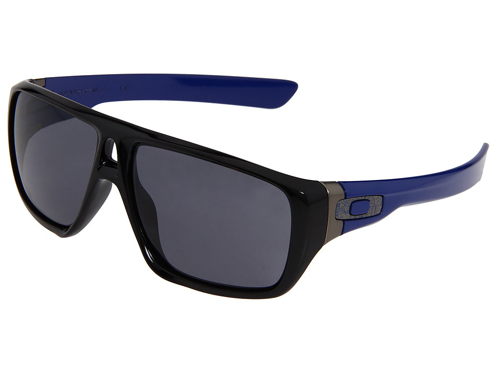 44f9248057 Oakley Dispatch Sunglasses OO9090-13 Polished Black Blue Grey ...