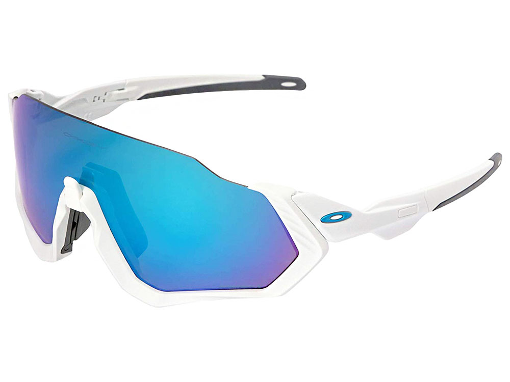 c0f9bedcad Details about Oakley Flight Jacket Sunglasses OO9401-0237 Polished  White Prizm Sapphire