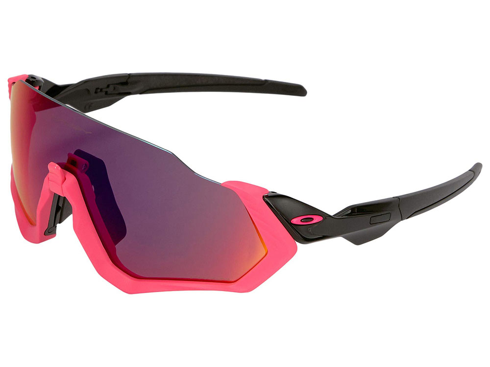 39f522947c Oakley Flight Jacket Sunglasses OO9401-0637 Neon Pink Polished Black ...