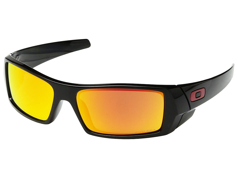 fabb2dc56a Details about Oakley Gascan Sunglasses OO9014-4460 Polished Black Prizm Ruby