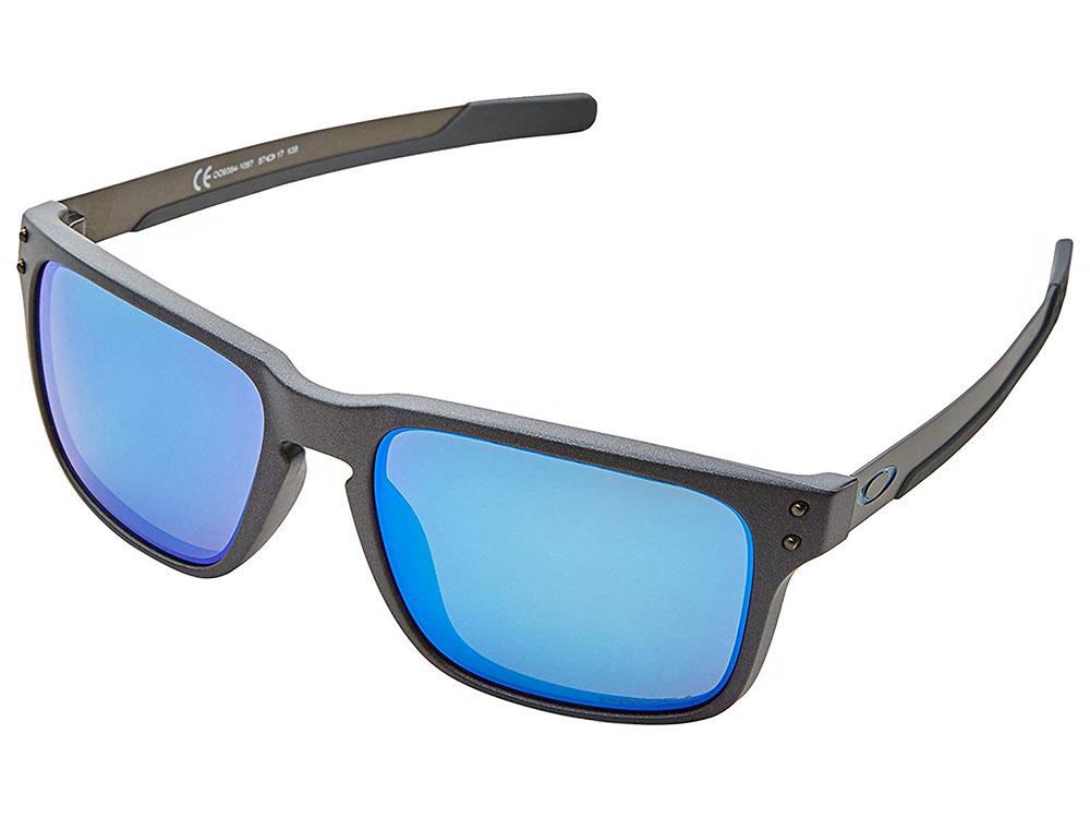 cb654bbaff Oakley Holbrook Mix Polarized Sunglasses OO9384-1057 Steel/Prizm ...