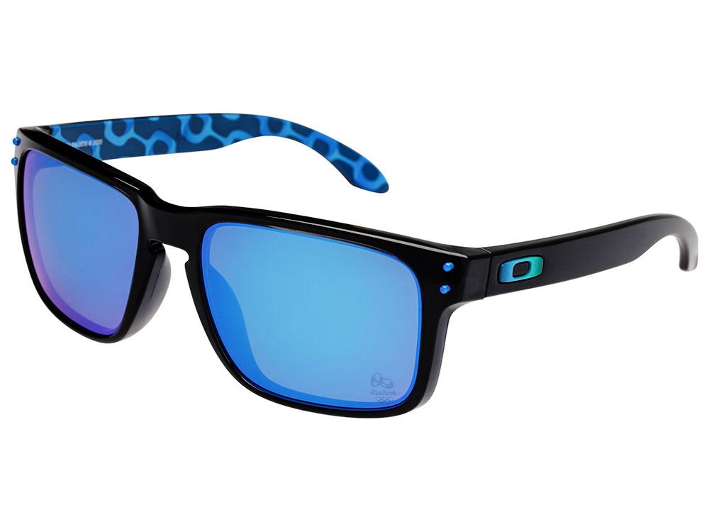 Details about Oakley Holbrook Brazil Olympics Sunglasses OO9102-A8 Black  Ink Sapphire Iridium 767011cabb