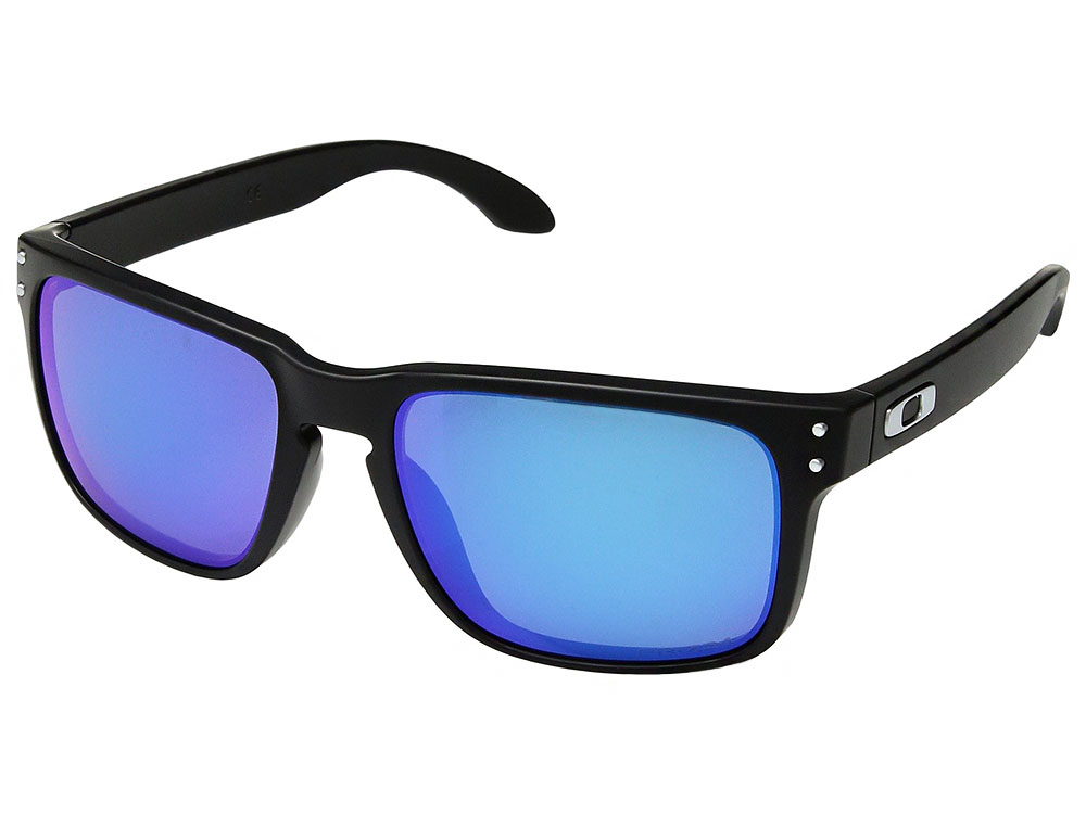 1e56d213f9 Details about Oakley Holbrook Polarized Sunglasses OO9102-F055 Matte  Black Prizm Sapphire