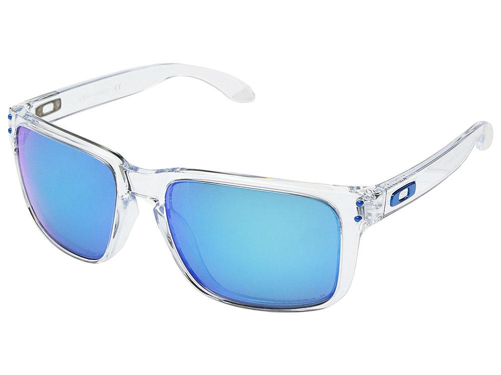 359ab10c44 Oakley Holbrook XL Polarized Sunglasses. Polished Clear Frame   Prizm  Sapphire Polarized Lens