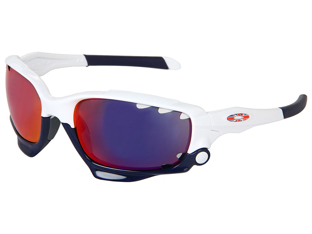38420510af Details about Oakley Jawbone UK Union Jack Sunglasses 24-328 Polished  White +Red Iridium