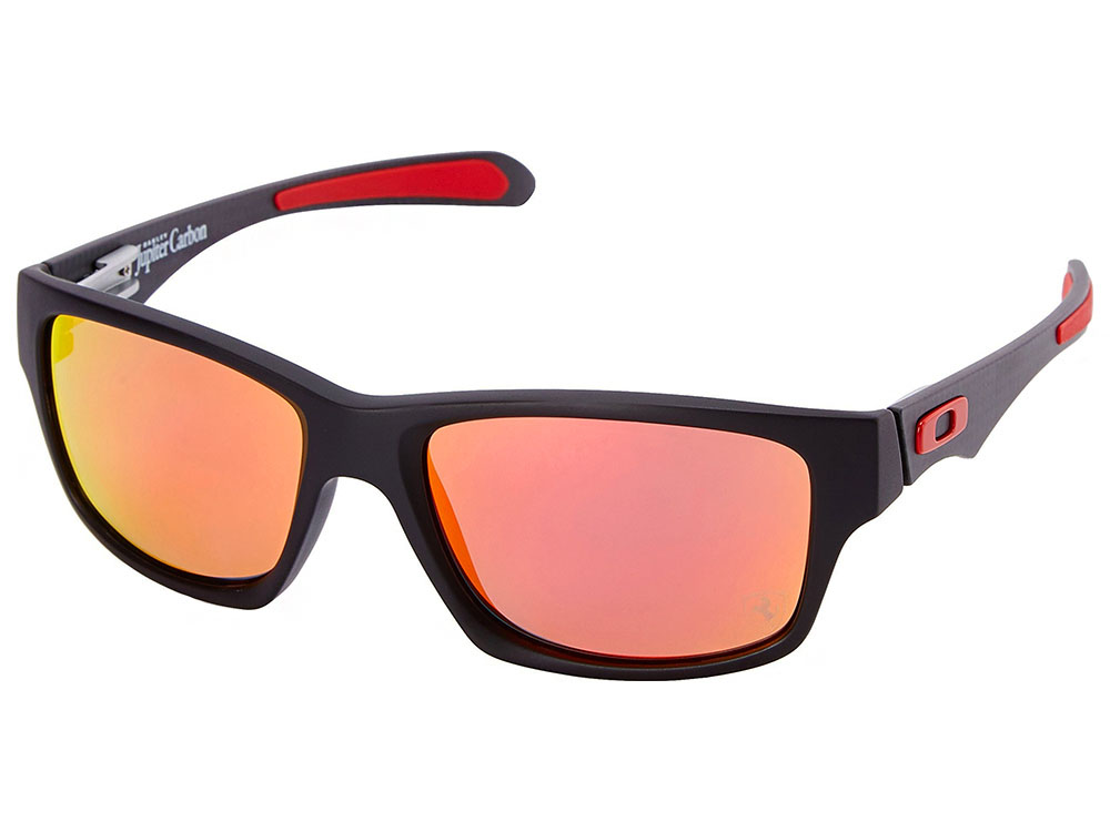 cbe27ebdb4 Oakley Jupiter Carbon Scuderia Ferrari Collection Polarized Sunglasses.  Matte Black Frame   Ruby Iridium Polarized Lens
