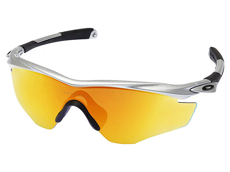a6e140f89f4 Details about Oakley M2 Frame Sunglasses OO9212-04 Silver Fire Iridium