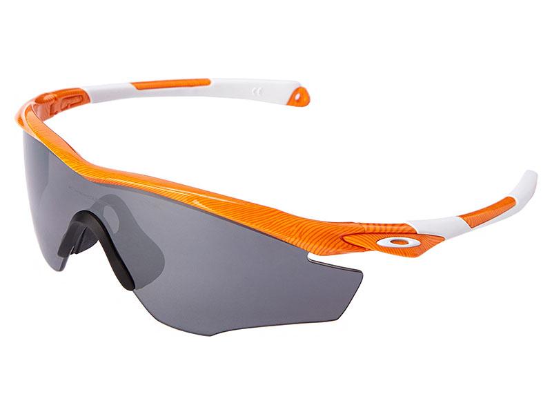 085cd8e03d Oakley M2 Frame Fingerprint Collection Polarized Sunglasses. Atomic Orange  Frame   Black Iridium Polarized Lens
