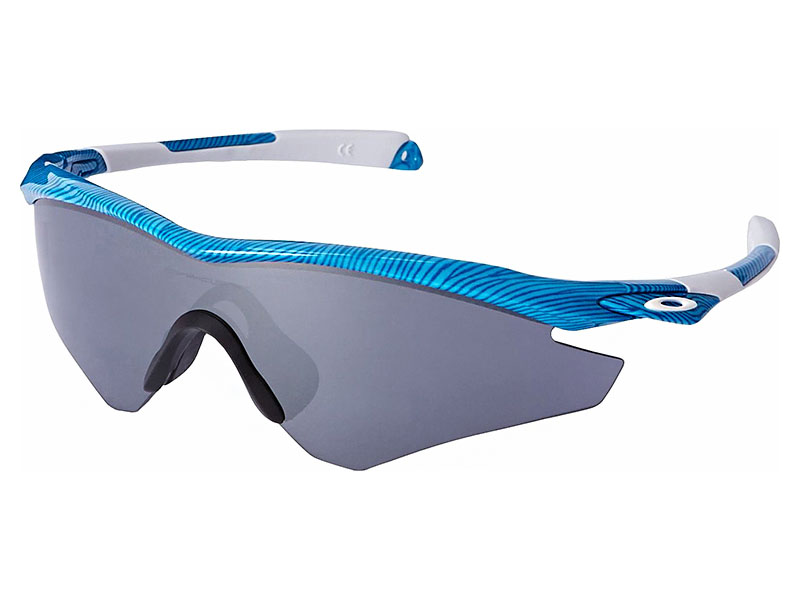 c13eb789ad Details about Oakley M2 Frame Sunglasses OO9254-08 Sky Blue Black Iridium  Asian