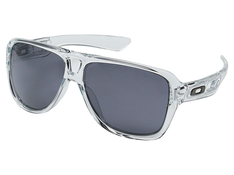 6ccba3de38 Details about Oakley Dispatch II Sunglasses OO9150-28 Polished Clear Grey