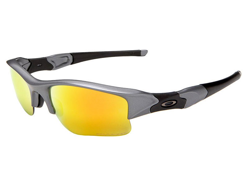 c52cf78ed487c Details about Oakley Flak Jacket XLJ Polarized Sunglasses OO9009-19 Dark  Grey Fire Iridium