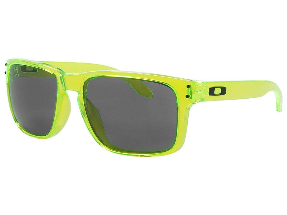 42aabbd97b Oakley Holbrook Sunglasses OO9102-60 Acid Green Grey 700285952130