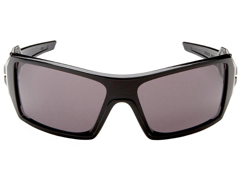 Oakley Oil Rig Sunglasses 03-460 Polished Black Warm Grey ... 1f7aae8240