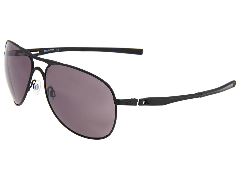 79852a6231 Details about Oakley Plaintiff Sunglasses OO4057-01 Matte Black/Warm Grey