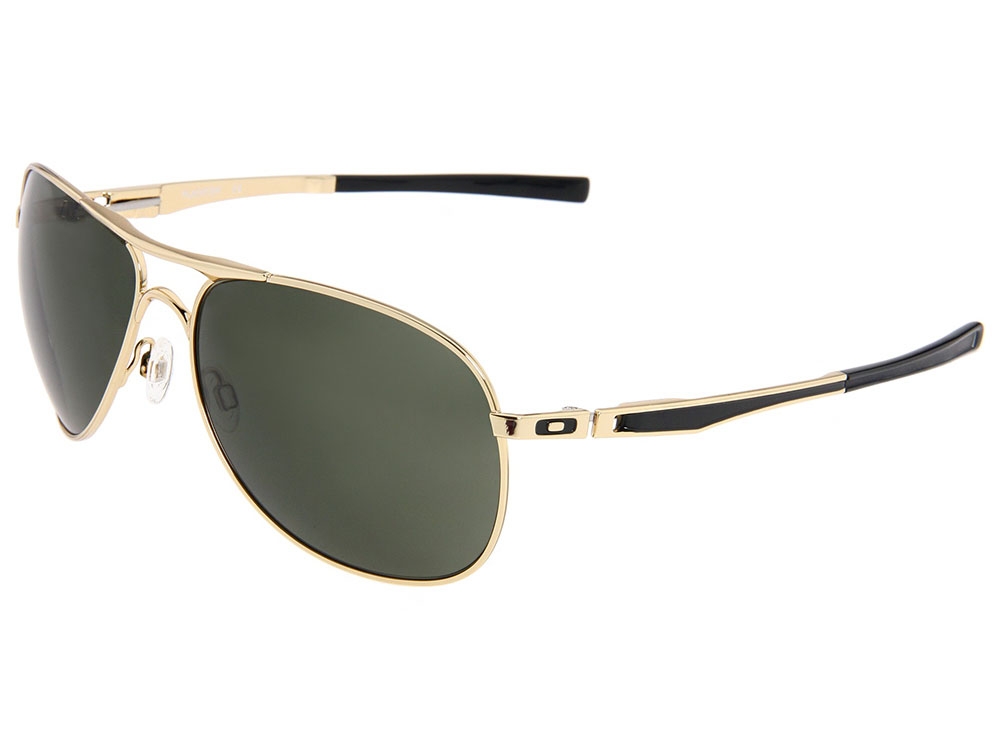 eb39a0c663 Oakley Plaintiff Sunglasses OO4057-02 Polished Gold/Dark Grey ...