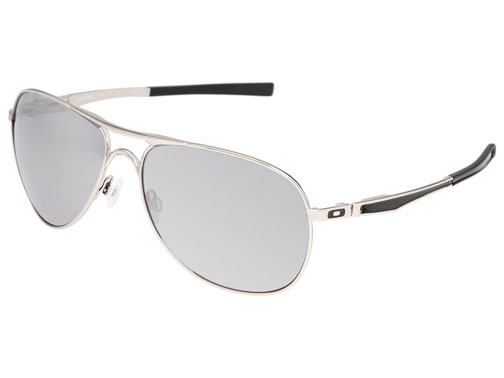 4abca3a421 Oakley Plaintiff Sunglasses OO4057-03 Polished Chrome/Chrome Iridium ...