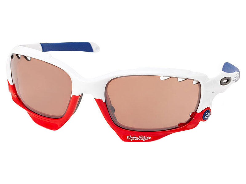 a7be2d1812 Oakley Racing Jacket Troy Lee Designs Signature Series Sunglasses. Polished  White Frame   VR28 Black ...