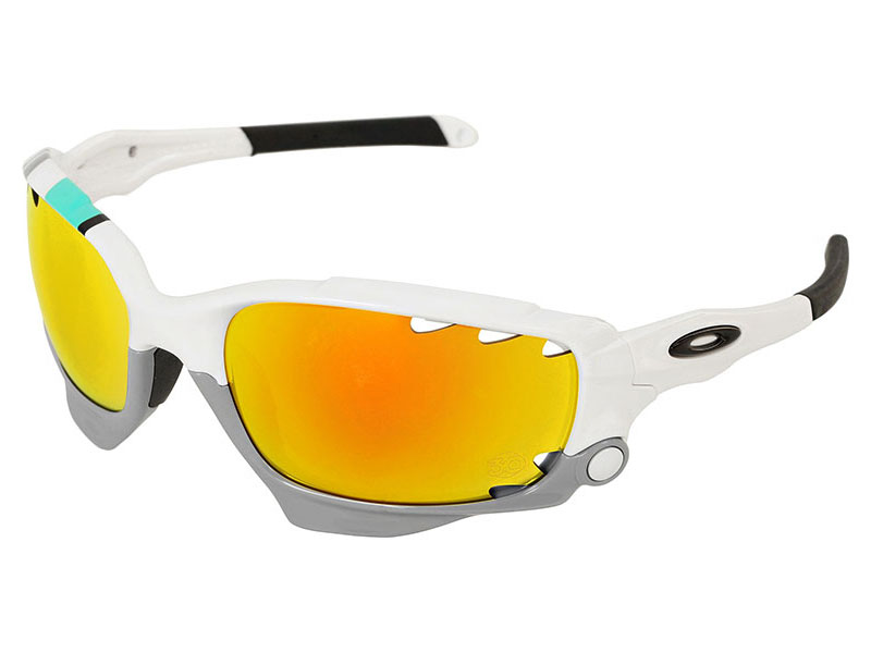 3db624cc208 Details about Oakley Racing Jacket 30 Years Sport Sunglasses OO9171-24  White Fire