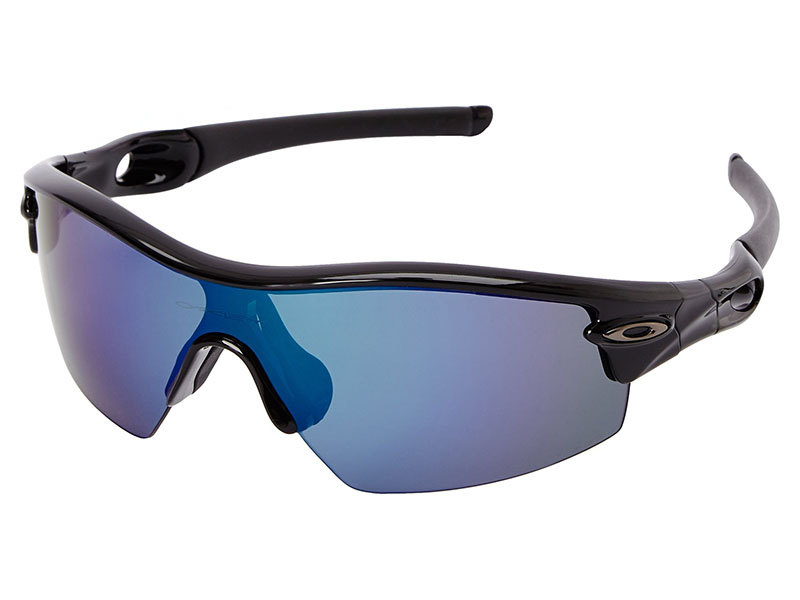 c56dfb557a Details about Oakley Radar Pitch Polarized Sunglasses 09-784 Polished Black Deep  Blue Iridium