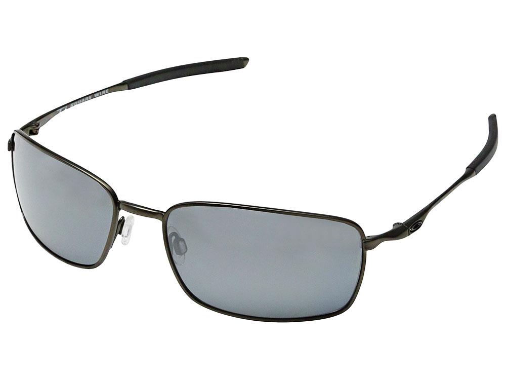 23f4e579907b Details about Oakley Ti Square Wire Polarized Sunglasses OO6016-02  Pewter/Black Iridium