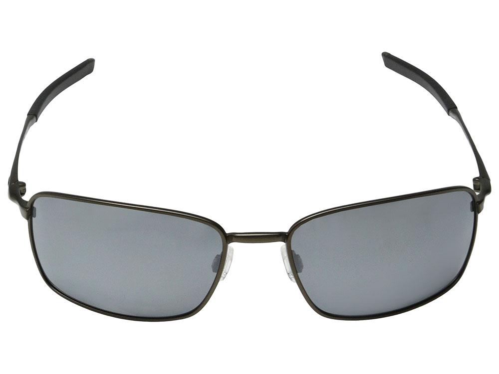3a3115e638 Oakley Ti Square Wire Polarized Sunglasses OO6016-02 Pewter Black ...