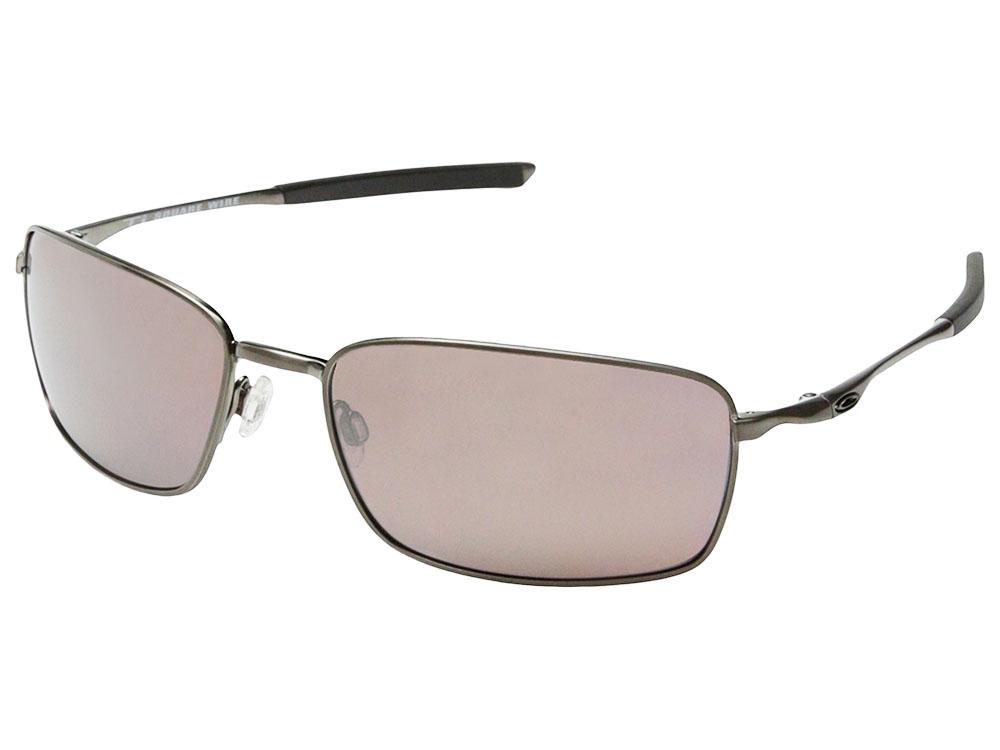 adadda158abe Oakley Ti Square Wire Polarized Sunglasses OO6016-03 Chrome/OO Black ...