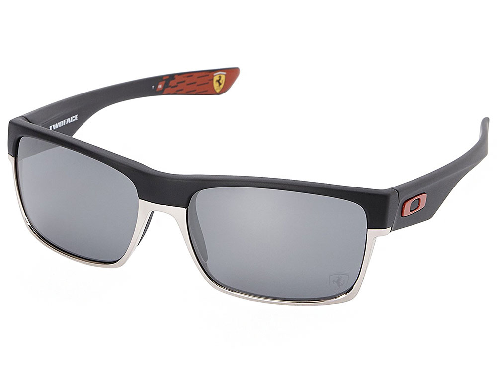ba006d9c61 Oakley TwoFace Scuderia Ferrari Collection Sunglasses. Matte Black Frame   Black  Iridium Lens