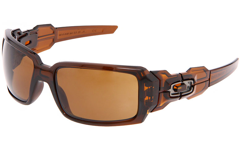 oakley oil drum sunglasses  oakley oil drum sunglasses polished rootbeer frame / dark bronze lens. main image