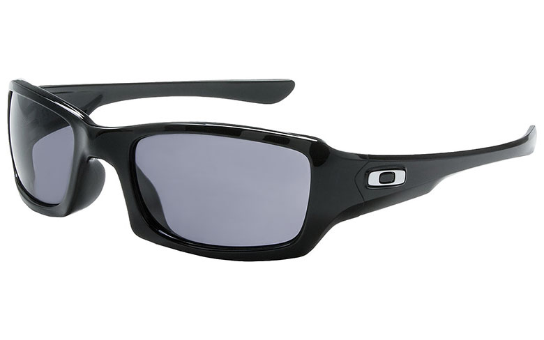 oakley fives squared sunglasses asian fit  oakley fives squared sunglasses (asian fit) polished black frame / grey lens. main image
